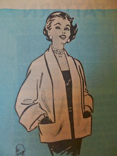 50s Short Coat Marian Martin 9144 Bust 34 by PatternMatters, $14.00