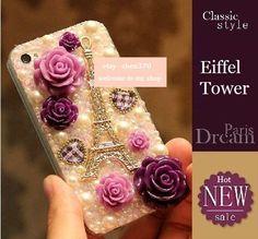 New Eiffel Tower Style Flatback Scrapbooking / DIY Phone Case Deco Den Kit  & Free Phone Case. $11.99, via Etsy.