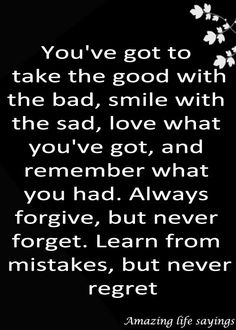 Good with bad and #smile with sad