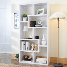 Furniture of America Verena Contoured Leveled Display Cabinet/ Bookcase - Overstock™ Shopping - Great Deals on Furniture of America Media/Bookshelves