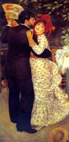 Pierre-Auguste Renoir French Painter (Impressionism) 1841-1919 Country Dance (Aline Charigot and Paul Lhote), 1883 (Musée d'Orsay, Paris, France )