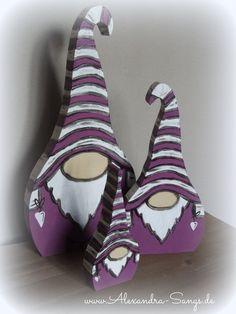 Wichtel aus Holz, Gnom, Zwerg, by Alexandra Sangs von Handgemachte Holzarbeiten & dekorative Geschenke by Alexandra Sangs auf DaWanda.com