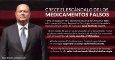 Como en Veracruz, enfermos de cáncer de Chihuahua recibían medicamentos falsos. De acuerdo con una investigación de la Secretaría de Salud, el personal del Hospital de Oncología recogía frascos originales de la solución, se los llevaban, los rellenaba con los placebos y los volvían a vender a la dir