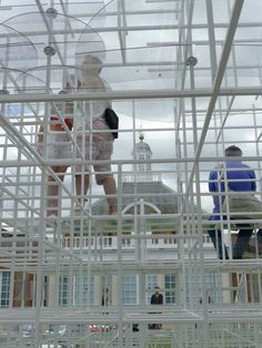 Serpentine Pavilion - it is great seeing people and the gallery through the space.