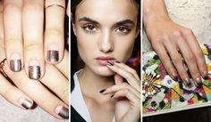 Smalto metallizzato, nail art iridescenti e unghie effetto specchio per un 2017 brillante come non mai. Ecco le tendenze unghie più cool dell'autunno inverno 2016-2017