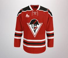Best Promotional T-Shirt Designs - Drummondville Voltigeurs by Alex Litovka Sports Jerseys, Sports Logos, Brand Campaign, Hockey Shirts, Regional, Brand Identity, Motorcycle Jacket, Promotion, Shirt Designs