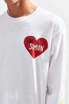 Slide View: 3: Love, Simon Face Long Sleeve Tee