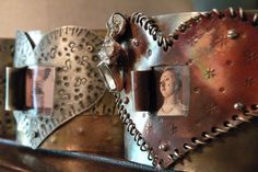 Window to My Heart (...the queen pic was one I took of a beautiful piece of art made by my artist friend, Stephanie Rubiano).