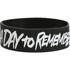 A Day To Remember Violence Rubber Bracelet   Hot Topic ($15) ❤ liked on Polyvore featuring jewelry, bracelets, accessories, rubber bracelets, band merch, hot topic jewelry, rubber bangles, hot topic and rubber jewelry