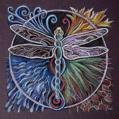 Dragonfly Mandala by CJ Shelton