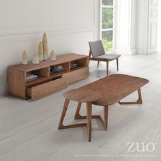 Zuo Park West TV Stand Walnut – Modish Store