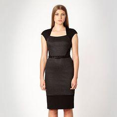 fc927ea0cf6 Designer black jacquard panelled jersey dress Item No. 0030107308 From our  exclusive Edition by Jonathan Saunders designer dresses range