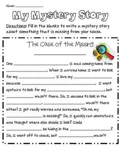 My Mystery Story from Mrs Jacobs Class on TeachersNotebook.com - (2 pages)