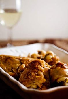 Garlic Chicken with White Wine Sauce
