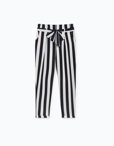 Discover the latest trends in fashion, footwear and accessories for women, men, children and babies at Lefties. Striped Pants, Latest Fashion Trends, Leggings, Women, Pants, Clothes, Spring, Stripped Pants, Tights