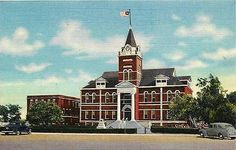 Deming New Mexico NM 1943 Luna County Court House Antique Vintage Linen Postcard