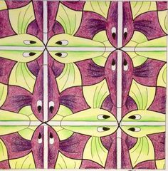 My interpretation of Mc Escher symmetry nr 122