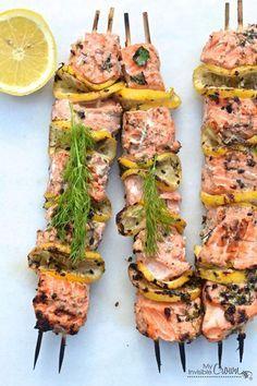 brochette saumon citron
