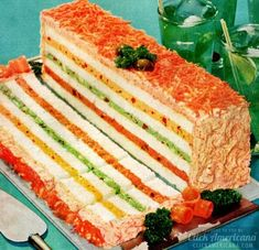 20 frosted party sandwich loaf recipes to make. or avoid - Click Americana - Party sandwich loaf, from 20 frosted party sandwich loaf recipes to make… or avoid – - Sandwhich Cake, Sandwich Loaf, Shrimp Sandwich, Tee Sandwiches, Tea Party Sandwiches, Subway Sandwich, Retro Recipes, Vintage Recipes, Party Recipes