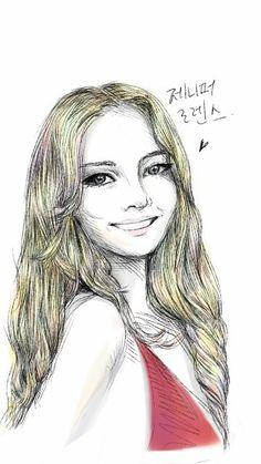 제니퍼 로렌스 Jennifer Lawrence by SketchbookX