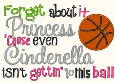 Forget about it Princess Embroidery design by PerfectPretties, $5.00