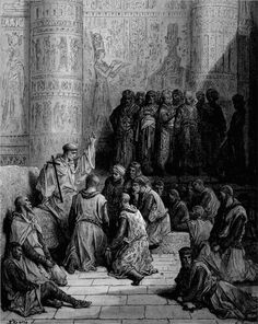 Christian Chevaliers Captive at Cairo. llustration to The Crusades.