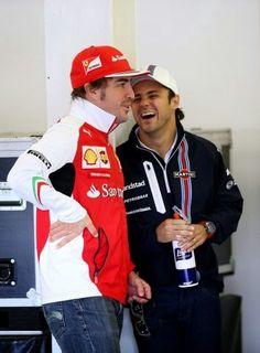 """Alonso:""""Yes Felipe, I've enjoyed watching the Iceman melt!"""""""