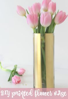 DIY Painted Flower Vase | Pretty My Party