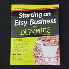 Starting an Etsy Business for Dummies 2nd Edition Instruction Book Beginner