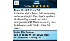 Carla & her staff at Remax Gold are amazing and so very helpful. When there's a problem at...