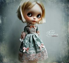 PARADISE FLOWER Exclusive Vintage Blythe Dress By Odd Princess, Pre-Order, Spring Collection, LAST One!