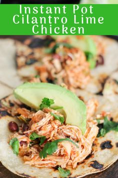 Instant Pot Cilantro Lime Chicken is an easy healthy meal that comes together in less than 30 minutes! Great for tacos, salads, rice bowls, or just plain!