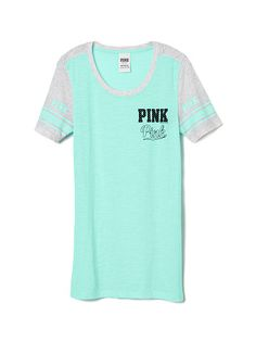 Pieced Athletic Tee PINK