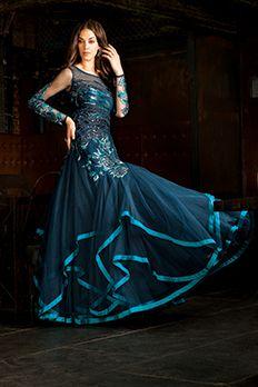 Net gown embellished with resham, zari and beads work by #Benzer #Benzerworld #Gown #CocktailGown #BridalWear #IndianBride