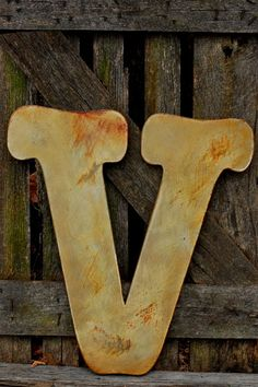 Metal Letter, Metal Typography, Metal Letter V, Channel Letter, Customized Wall Decor