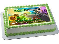 Plants vs Zombie 2 Edible Birthday Cake Topper OR Cupcake Topper, Decor