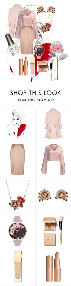 """""""Untitled #183"""" by sarah01-2 ❤ liked on Polyvore featuring River Island, WithChic, Les Néréides, Olivia Burton, Morgan Taylor, Bobbi Brown Cosmetics, Clarins and Charlotte Tilbury"""