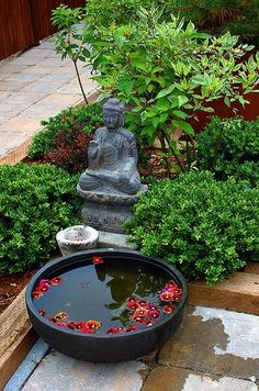 Buddha Garden Ideas Buddha Garden Ideas What is a Buddhist garden? A Buddhist garden can display Buddhist imagery and art, but more importantly, any simple, orderly garden can reflect the Buddhist principles of peace,… Zen Garden Design, Japanese Garden Design, Landscape Design, Japanese Style, Zen Design, Patio Design, Abstract Landscape, Landscape Architecture, Asian Garden