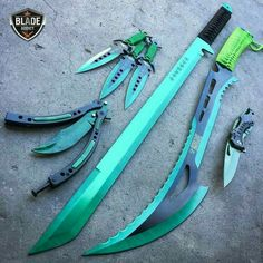 I guess I'd only be getting the throwing knives and the pocket knife for Rein. T… – knives Ninja Weapons, Anime Weapons, Weapons Guns, Fantasy Weapons, Armas Ninja, Pretty Knives, Cool Knives, Swords And Daggers, Knives And Swords
