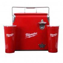 22177f01 Milwaukee® Frio Retro Cooler and Tumbler with Bottler Opener Set. Milwaukee  Tool