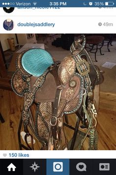 Gorgeous Double J Saddlery tack set!---- what I would give to finally have a double j saddle... Like Woah...