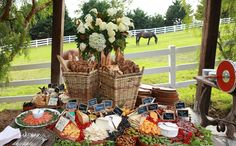 cheese/bread/antipasto station with wine tasting in the vineyard post-ceremony
