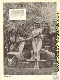 1962 Jayne Mansfield Lambretta Scooter Pin-Up