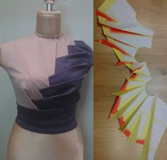 Origami bamboo bodice by 'Iryna' at Origami Master-Online Class by Shingo Sato. A-MA-ZING!!