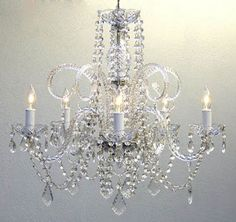 "$115 French Style NEW Authentic Crystal Chandelier Chandeliers Lighting H25"" x W24"" French Style #Traditional"