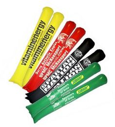 Pair of Inflatable Fan-ta-Sticks Noisemakers | Minimum order 100 pairs, $1.95 - $1.75 ea.