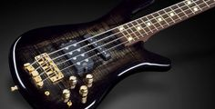"""Warwick Streamer Jazzman 4 1"""" AAA Colored Flamed Maple top Bleached Seethrough Blackburst Transparent HP White Side and Front LEDs"""