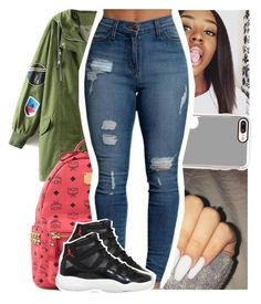 """""""poppin - pnb rock"""" by theyknowtyy ❤ liked on Polyvore featuring MCM, Casetify and NIKE"""