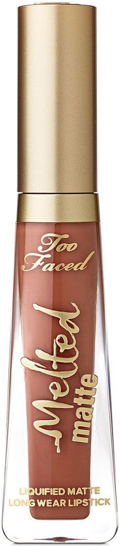 Too Faced Melted Matte Lipstick Long Wear Lipstick, Matte Lipstick, Liquid Lipstick, Melted Matte, Too Faced Melted, Products, Beauty Products