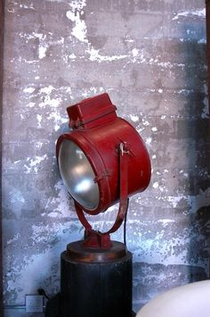 industrial red beacon lamp